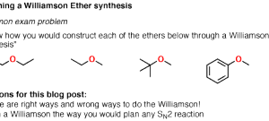 Williamson Ether Synthesis: Planning